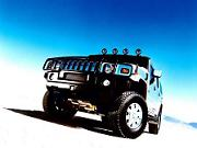 2003 HUMMER H2 with brush grille guard. X03CO_SP009