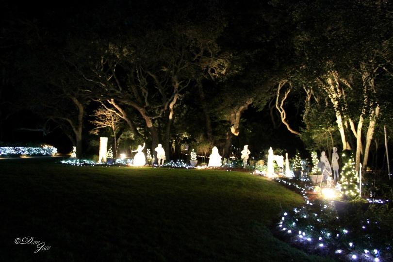 Elizabethan Gardens during Winder LIghts