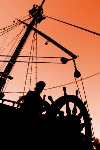 Captain's Sunset Silhouette