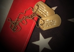 Flag with dogtags (bigstock 4969016)