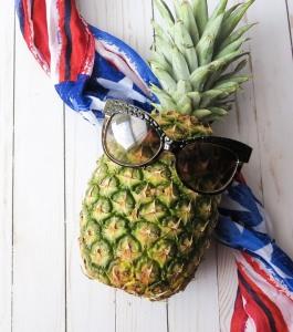 American Flag Food Fruit Fresh Healthy Pineapple