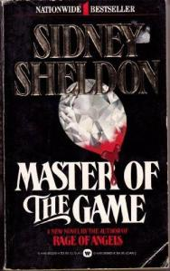 Book Cover: Master of the Game. Show a diamond with dripping blood