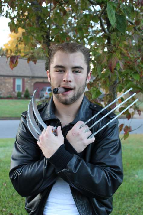 male teen dressed as Wolverine